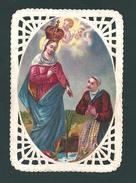 MERLETTATO:  MARIA SS. DI CARAVAGGIO - E - PR - Mm. 54 X 78 - CROMOLITOGRAFIA - Religione & Esoterismo