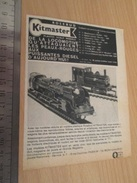 Page De Revue Des Années 60/70 : PUBLICITE TRAIN MINIATURE KITMASTER  , Dimension Page  A4 - Trains électriques