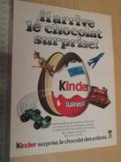 Page De Revue Des Années 60/70 : PUBLICITE CHOCOLAT SURPRISE KINDER   , Dimension Page  A4 - Other
