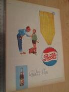 Page De Revue Des Années 60/70 : PUBLICITE PEPSI-COLA  , Dimension Page  A4 - Advertising Posters