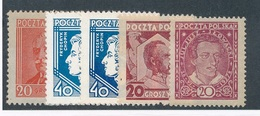 M-652: POLOCNE: Lot Avec N°330*-331*(2)-333/334* - 1919-1939 Republic