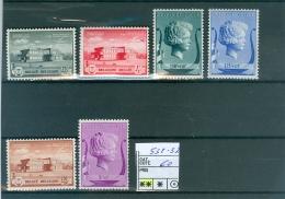 532-537  XX - Unused Stamps