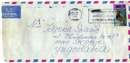Zambia AirMail  Letter Via Macedonia.Yugoslavia.nice Stamp Motive 1973 Prehistoric Animals - Fossils - Luangwa (cynodont - Zambia (1965-...)