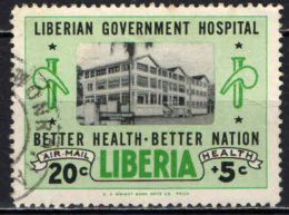 LIBERIA - 1954 - LIBERIAN GOVERNMENT HOSPITAL - USATO - Liberia