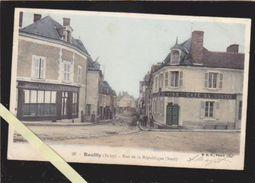 Indre - Reuilly - Partie Haute De La Rue De La République , Café Du Centre - Altri Comuni