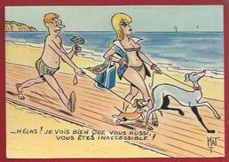 HUMOUR GRIVOIS - ILLUSTRATEUR : MAT -  UNE FEMME QUI A DU CHIEN...INACCESSIBLE(S)....- LA ROSE 1176 - Humor