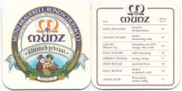 #D182-018 Viltje Münz Bier - Portavasos