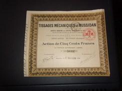 TISSAGES MECANIQUES DE MUSSIDAN (500 Francs) DORDOGNE - Shareholdings