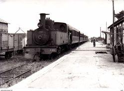 Photographie : Somme . Saint Valery  -  Canal   . ( Cliché J.  Bazin Série No 28  Vue 4 ) . - Trenes