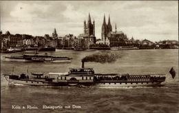 Cp Köln Am Rhein, Dampfer Prince Heinrich Auf Dem Rhein, Blick Zum Dom - Bateaux