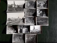 MINES DE POTASSE . ALSACE . HAUT-RHIN . 13 PHOTOS DE 1943 - Beroepen