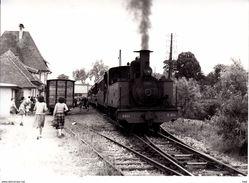 Photographie : Somme .saint  Valery Ville  . Train En Gare . ( Cliché J.  Bazin Série No 28  Vue 6 ) . - Trenes