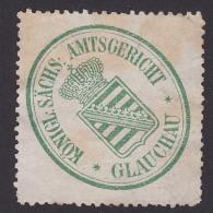 GLAUCHAU Siegelmarke Königlich Sächsische Amtsgericht - Gesneden Chromo's