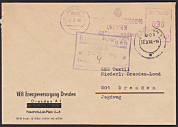 Germany East DDR ZKD Brief AFS =030= Dresden VEB Energieversorgung - [6] Oost-Duitsland