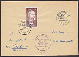 Georg Herwegh Briefstempel DDR Brief Schwepnitz Postsiegel PA Dresden A1 - [6] République Démocratique