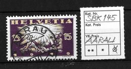 1919 FRIEDENSMARKEN → SBK-145, 23.IX.19 ►AARAU◄ - Gebraucht