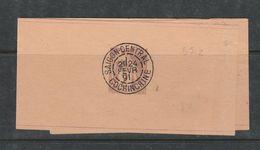 COCHINCHINE BANDE JOURNAL  N° 2 2C MARRON OBL 24/2/1901 - Cochinchine (1886-1887)