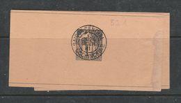 COCHINCHINE BANDE JOURNAL  N° 1C NOIR TYPE DÉESSE ASSISE PLIEE  OBL 24/2/1901 - Cochinchine (1886-1887)