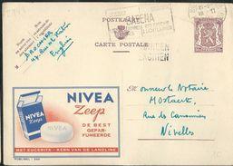 Publibel Obl. N° 949 ( NIVEA Zeep De Best) Obl 1952 + Griffe D'Enghein - Publibels