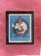 SUD SUID SOUTH AFRICA RSA AFRIQUE 1954 CHRISTMAS CHARITY LABEL NATALE BENEFICENZA NOEL WEIHNACHTEN NAVIDAD NATAL MNH - Sud Africa (...-1961)