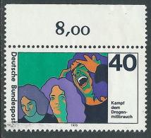 1975 GERMANIA FEDERALE USATO LOTTA CONTRO LA DROGA - R45-2 - Usados