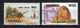 NIGERIA - 1992 - LEKKI BEACH AND LION - USATI - Nigeria (1961-...)