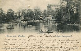 Gruss Aus Dresden - Kgl. Zwingerteich 1899 (002674) - Dresden