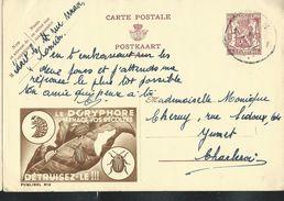 Publibel Obl. N° 812 (Le Doryphore Menace Vos Récoltes == Détruisez-le) Obl. 1948 - Publibels