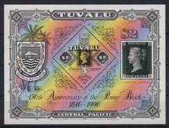 Tuvalu - Bloc N°40 - 150e Anniversaire Ud Timbre Poste  - Cote 10€ - Tuvalu