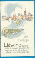 Holycard   St. Lidwina - Devotieprenten