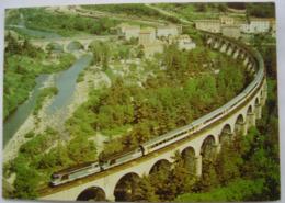 Lozere Le Cévenol Sur Le Viaduc De Chapeauroux Cachet A Bord Du Train Cévenol - Autres Communes