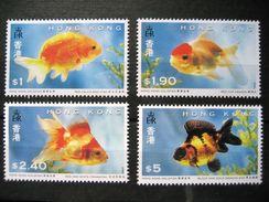 Hong Kong 1993 Goldfish Set Of 4 MNH - Neufs