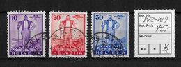 1936 SONDERMARKEN PRO PATRIA → Eidg. Wehranleihe, SBK-W2, W3, W4 ►Vollst.MARIN◄ - Gebraucht