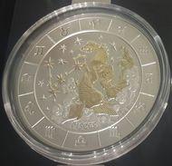RWANDA 2009 93,3GR 1000 Francs Zodiac PISCES Gold+Silver 3 Oz + 4 Diamonds Coa - Rwanda