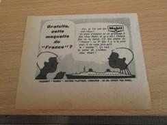 Page De Revue Des Années 60/70 : PUBLICITE MOBIL MAQUETTE PLASTIQUE PAQUEBOT FRANCE ; Dim. : Voir Règle Sur La Photo - Boten