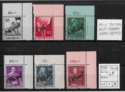 1942 FREIMARKEN MIT AUFDRUCK OFFICIEL → Historische Bilder SBK-V58-63 ►aus Bogen O.rechts◄ - Dienstpost