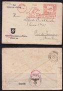 Deutsches Reich 1940 Zensur Censor Meter Brief DÜREN – RIO DE JANEIRO Brasilien Brazil Via SIBIRIEN JAPAN - Allemagne