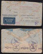 Deutsches Reich 1941 Zensur Censor Meter LATI Luftpost Brief LENGERICH – RIO DE JANEIRO Brasilien Brazil - Allemagne