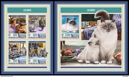 NIGER 2017 - Cats, M/S + S/S. Official Issue - Niger (1960-...)