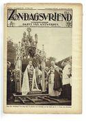 Zondagsvriend 5e Jaargang Nr 32 Oogst 1934  Kardinaal Van Roey In Alsemberg , Dubbele Pagina Testelt - Magazines & Newspapers