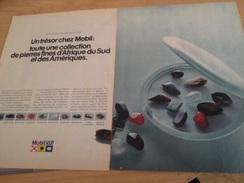 Page De Revue Des Années 60/70 : PUBLICITE COLLECTION DE PIERRES FINES AFRIQUE DU SUD MOBIL Format : Double Page A4 - Otros