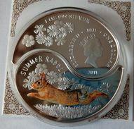 FIJI 2011 SET 2 COINS YEAR OF RABBIT YIN-YANG FORM 62.2 GR 2X1dollar Silver COA AND BOX - Fiji