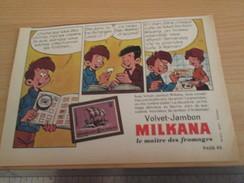 Page De Revue Des Années 60/70 : PUBLICITE TIMBRES DE COLLECTION FROMAGE MILKANA Format : Voir Règle Sur La Photo - Sonstige