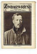 Zondagsvriend 5e Jaargang Nr 8   Februari 1934 , Koning Albert I Overleden - Tijdschriften