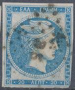Stamp Greece Large Germes 20l Used - 1861-86 Large Hermes Heads