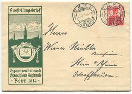 1720 -  FDC 10 Rp. Ausstellungsbrief Landi 1914 Helvetia Brustbild Mit Ersttagstempel BERN 15.V.14 - Entiers Postaux