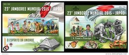 S. TOME & PRINCIPE 2015 - Scouts, Mushrooms, M/S + S/S. Official Issue - Champignons