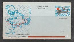 ESPAGNE AEROGRAMME RAID MADRID MANILLE NUMÉROTE OBL - 1931-Aujourd'hui: II. République - ....Juan Carlos I