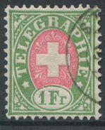 1723 - 1 Fr. TELEGRAPHENMARKE Weisses Papier - SBK Katalogwert CHF 800.00 - Télégraphe