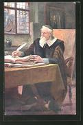 CPA Philosoph Komensky An Seinem Schreibtisch - Autres Célébrités